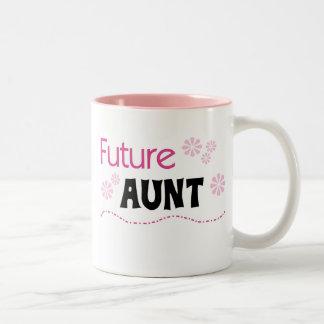 Future Aunt Tshirts and Gifts Two-Tone Coffee Mug