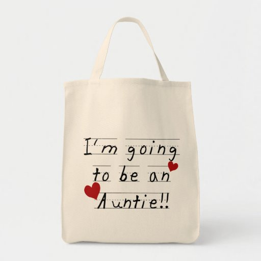 Future Auntie Kid Print Tshirts and Gifts Canvas Bags