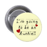 Future Auntie Kid Print Tshirts and Gifts 2 Inch Round Button
