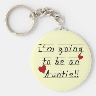 Future Auntie Kid Print Tshirts and Gifts Keychain