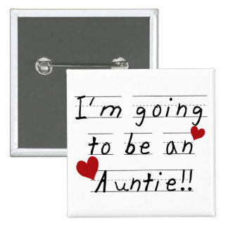 Future Auntie Kid Print Tshirts and Gifts Pinback Button