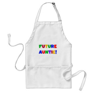 Future Auntie-Primary Colors Tshirts and Gifts Adult Apron