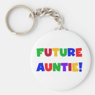 Future Auntie-Primary Colors Tshirts and Gifts Keychain