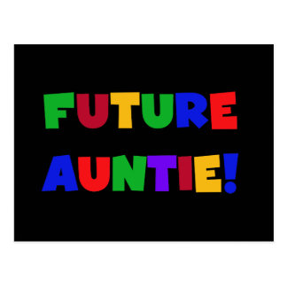 Future Auntie-Primary Colors Tshirts and Gifts Postcard