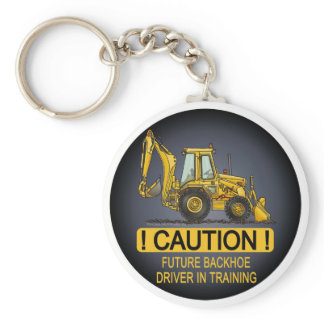 Future Backhoe Driver Key Chain