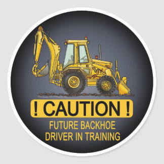 Future Backhoe Driver Kids Sticker