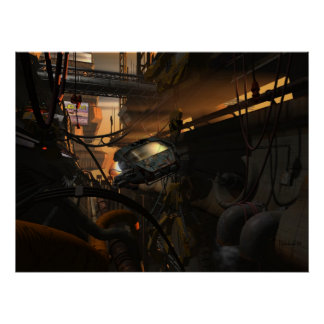 Future bandits - cyberpunk poster