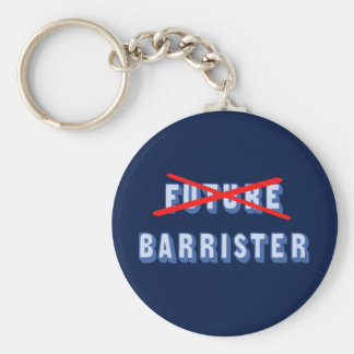 Future Barrister No More Basic Round Button Keychain