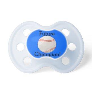 Future Baseball Champion Pacifier
