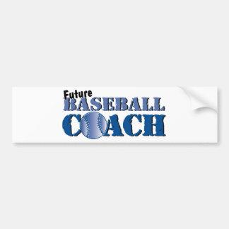 Future Baseball Coach Bumper Sticker