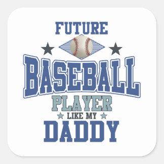 Future Baseball Player Like My Daddy Square Sticker