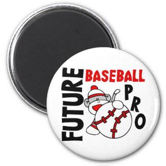 Future Baseball Pro Sock Monkey 2 Inch Round Magnet
