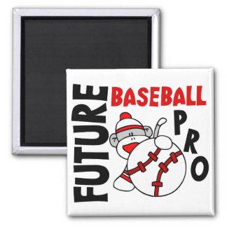 Future Baseball Pro Sock Monkey 2 Inch Square Magnet