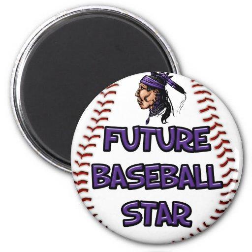 Future Baseball Star 2 Inch Round Magnet