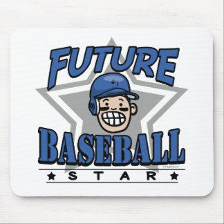 Future Baseball Star Blue Helmet Mouse Pad