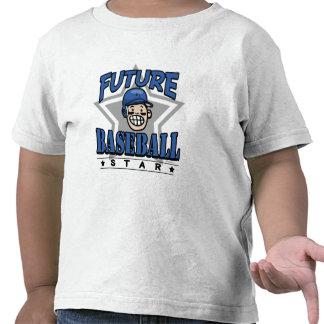 Future Baseball Star Blue Helmet Tshirt