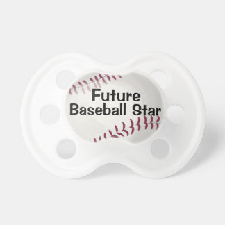 Future Baseball Star Funny Sports Lover Baby Dummy BooginHead Pacifier