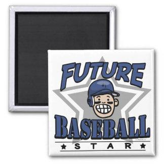 Future Baseball Star Navy Helmet Magnet