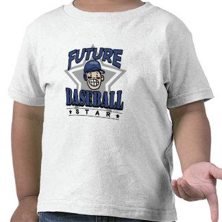 Future Baseball Star Navy Helmet T-shirts
