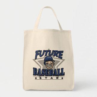 Future Baseball Star Navy Helmet Tote Bag