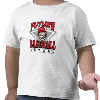 Future Baseball Star Red Helmet Tshirts