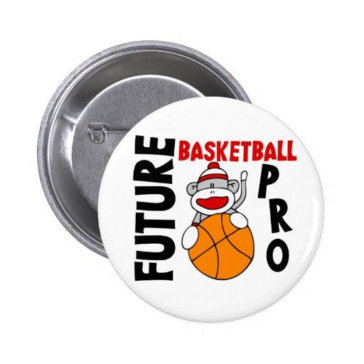 Future Basketball Pro Sock Monkey Button