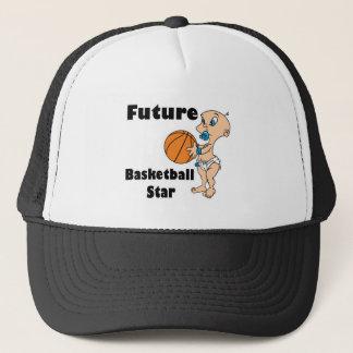 future basketball star baby boy trucker hat