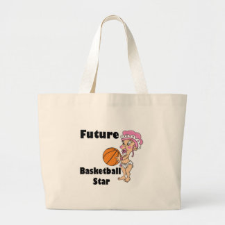 future basketball star baby girl canvas bags