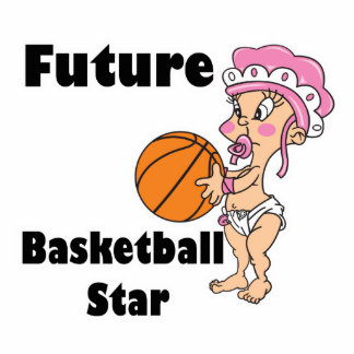 future basketball star baby girl cut out