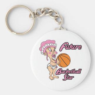 future basketball star baby girl keychain