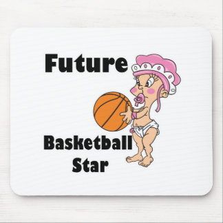 future basketball star baby girl mouse pads