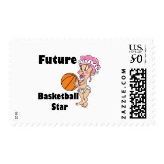 future basketball star baby girl postage