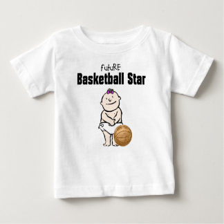 Future Basketball Star Baby Girl T-shirts