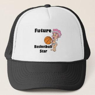 future basketball star girl trucker hat