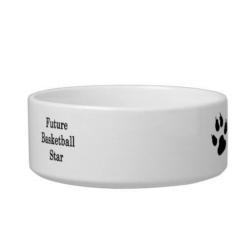 Future Basketball Star Pet Food Bowls