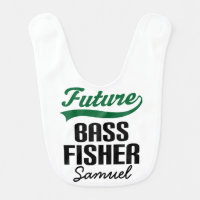 Future Bass Fisher Personalized Baby Bib