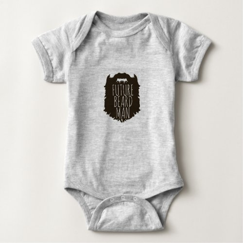 FUTURE BEARD MAN BESTSELLING HIPSTER BABY SHOWER BABY BODYSUIT
