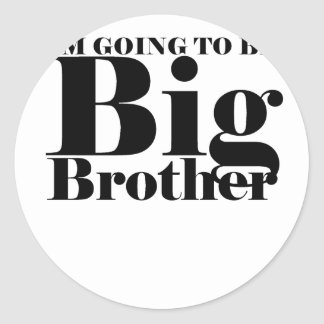 Future Big Brother Children's T-Shirt M.png Classic Round Sticker