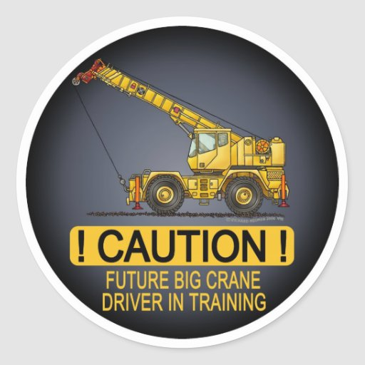 Future Big Crane Driver Kids Sticker