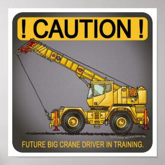 Future Big Crane Driver Poster Print