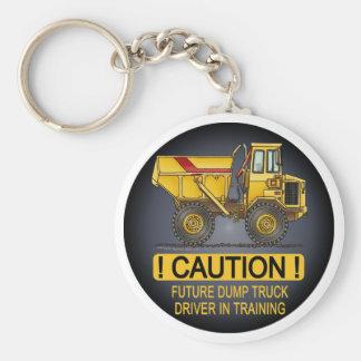 Future Big Dump Truck Driver Key Chain