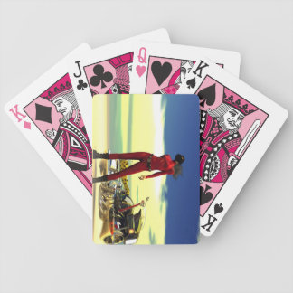 Future Biker Babe Bicycle Playing Cards