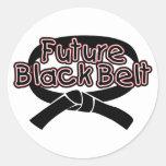 Future Black Belt  (red) Sticker