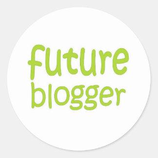 future blogger classic round sticker