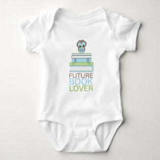 Future Book Lover Baby Boy Cute Owl Shirt