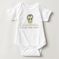Future Book Lover Baby Neutral Cute Owl Shirt