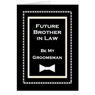 Future Borther-in-Law Groomsman Wedding Invitation