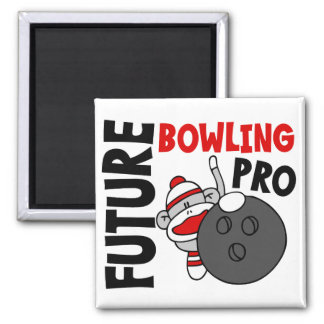 Future Bowling Pro Sock Monkey 2 Inch Square Magnet