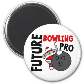 Future Bowling Pro Sock Monkey 2 Inch Round Magnet