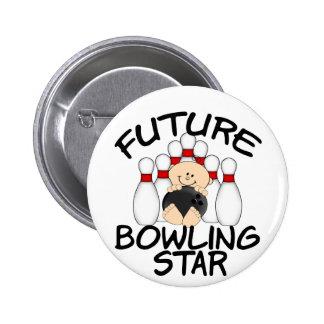 Future Bowling Star Pinback Button